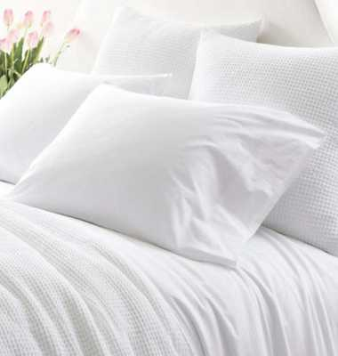 ESSENTIAL PERCALE WHITE SHEET SET - full - Pine Cone Hill