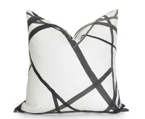 Channels Pillow Cover - Kelly Wearstler - Ebony -20 x 20 No Insert - Willa Skye