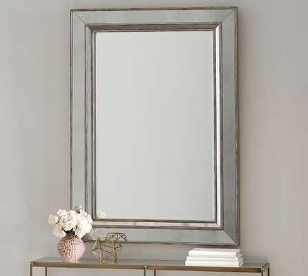 Marlena Antique Mirror Rectangle - Brushed Silver - Pottery Barn