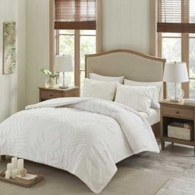 Barron Tufted Palm Comforter Set, King/Cal. King - Wayfair