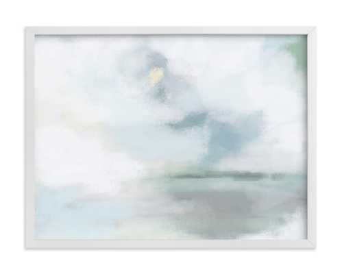 "Monday Blues - 24"" x 18"" - Classic White Frame - Minted"