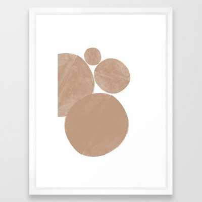 Minimalist Beige Art Framed Art Print - Society6