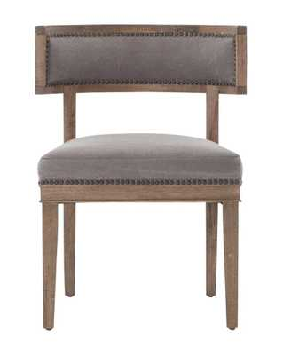 CONNOR CHAIR, DARK MOON CANVAS W/ ASPEN GRAY FINISH - McGee & Co.