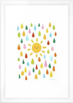 """You Are My Sunshine - 15"""" x 21"""" - vector white framed - Society6"""
