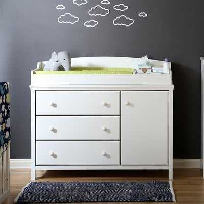 Cotton Candy Changing Dresser- White - Wayfair
