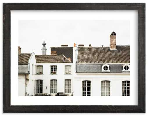 ghent, 30x40, white border, distressed charcoal stain - Minted