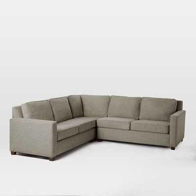 Henry Set 1- Corner,  Right Arm 2-Seater Sofa, Left Arm 2-Seater Sofa , Twill, Gravel - West Elm
