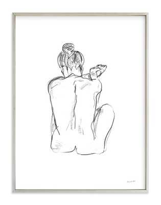"""stretching - 30x40"""", champagne silver frame, white border signed print - Minted"""
