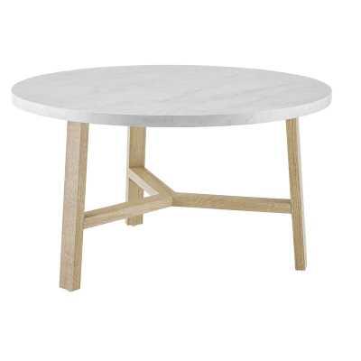 Marisela Round Coffee Table, White - AllModern