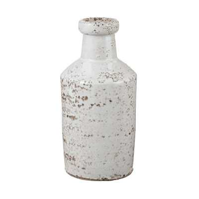 Rustic White Milk Bottle - Rosen Studio