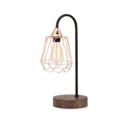 Tilton Copper and Wood Table Lamp - Mercer Collection