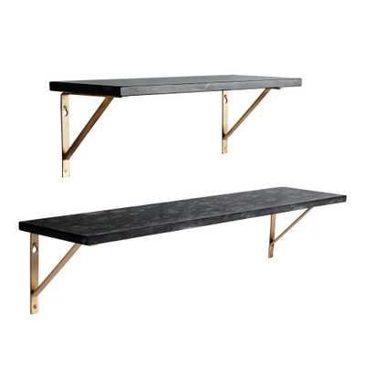 "Black Marble Mix & Match Wall Shelves, 24"" Single Shelf - World Market/Cost Plus"