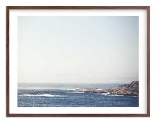 "Oygarden- 54"" x 40"" White Border with Walnut Wood Frame - Minted"