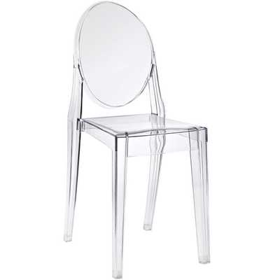 CASPER DINING SIDE CHAIR IN CLEAR - Modway Furniture