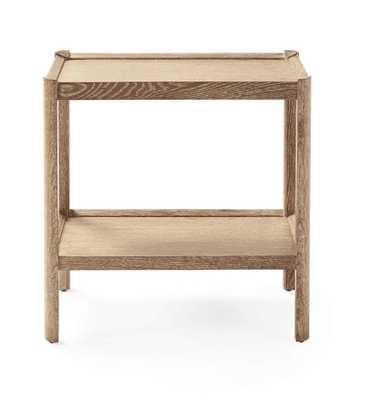 Ellington Side Table Cerused Oak - Serena and Lily