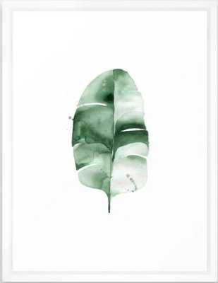 "Banana Leaf no. 6 Framed Art Print, 20 ""x 26""_scoop white - Society6"