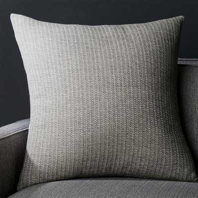 """Liano 23"""" Grey Pillow with Down-Alternative Insert - Crate and Barrel"""