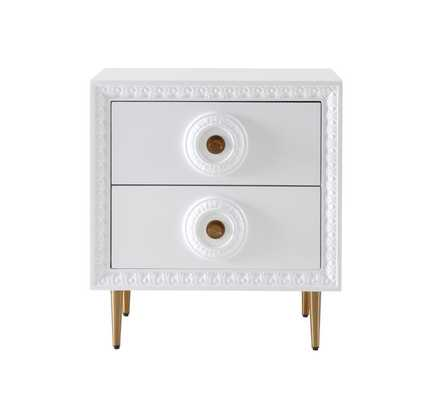 Dahlia WHITE LACQUER SIDE TABLE - Maren Home