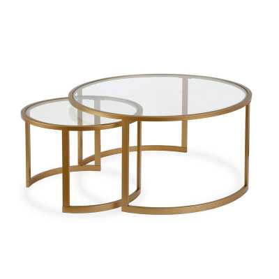 Whitacre 2 Piece Coffee Table Set, Gold - Wayfair