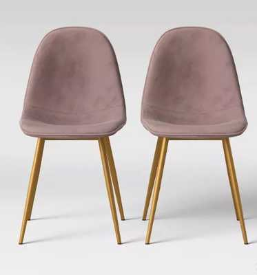 Copley Velvet Dining Chair with Brass Leg - Project 62™ - Target