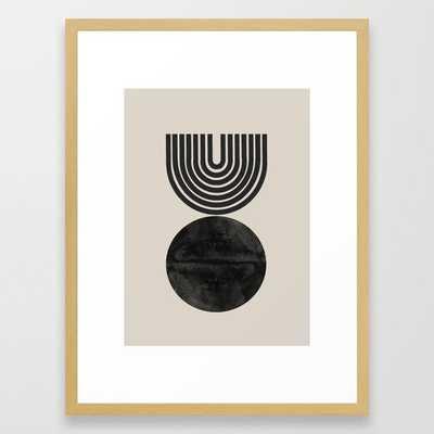 Woodblock Print, Modern Art Framed Art Print - Society6