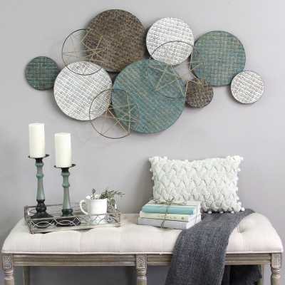 Woven Texture Metal Plate Wall Decor - Wayfair