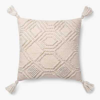 Magnolia Home By Joanna Gaines P1094 MH Ivory Pillow - Loma Threads