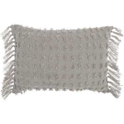 Coraline Textured Cotton Lumbar Pillow - Wayfair