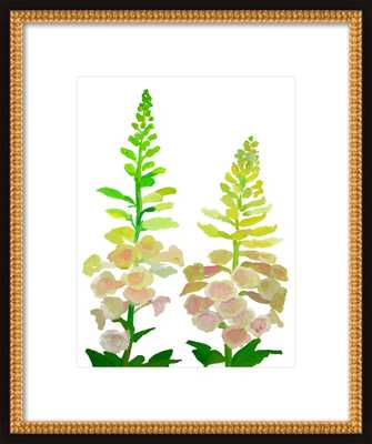 Sweet Pea - 16x20 - Flat Black Double Bead Wood frame with matte - Artfully Walls