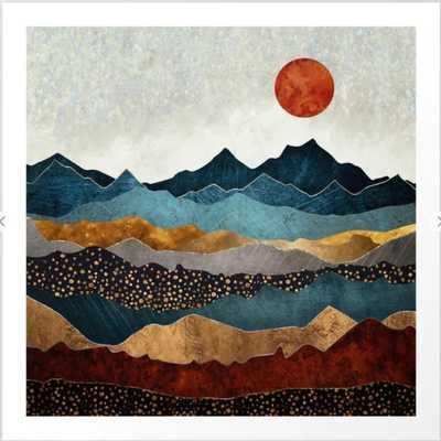 Amber Dusk Framed Art Print - Society6