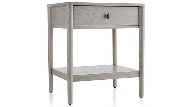Gia Dove Ash Nightstand - Crate and Barrel
