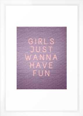 Neon sign girls just wanna have fun - Society6