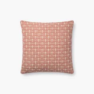 "P1096 MH BLUSH- 18"" Pillow with Poly Insert - Loma Threads"
