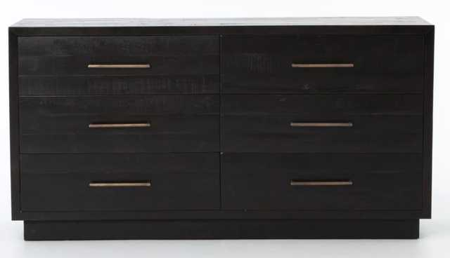 Suki 6 Drawer Dresser in Burnished Black by BD Studio - Burke Decor