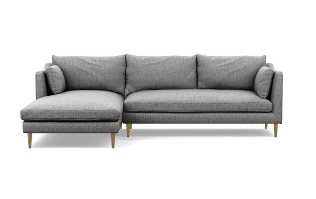 CAITLIN BY THE EVERYGIRL Sectional Sofa with Left Chaise: Seed (cross weave) - Interior Define