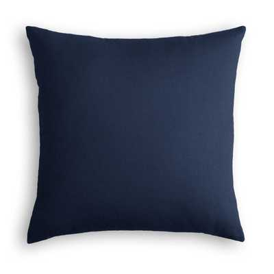 "Classic Linen Pillow, Indigo, 20"" x 20"", down insert - Havenly Essentials"