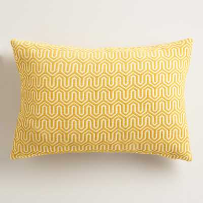 Yellow Geo Chenille Lumbar Pillow by World Market - World Market/Cost Plus