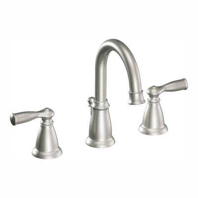 Banbury 8 in. Widespread 2-Handle High-Arc Bathroom Faucet in Spot Resist Brushed Nickel - Home Depot