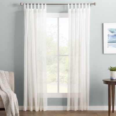 Wayfair Basics Solid Sheer Tab Top Single Curtain Panel - Wayfair