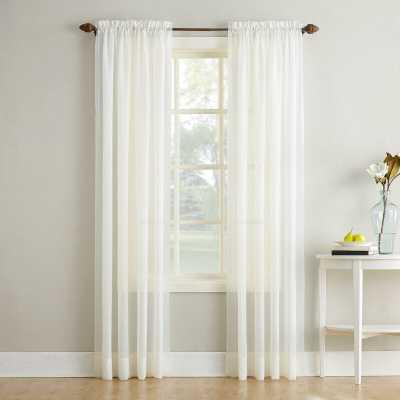 Maxon Crushed Voile Solid Sheer Rod Pocket Single Curtain Panel - Wayfair