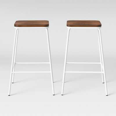 Set of 2 Rhodes Metal/Wood Counter Stool White - Project 62 - Target