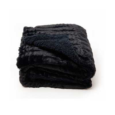 Masaitis Embossed Faux Fur Rev to Sherpa Throw - Wayfair