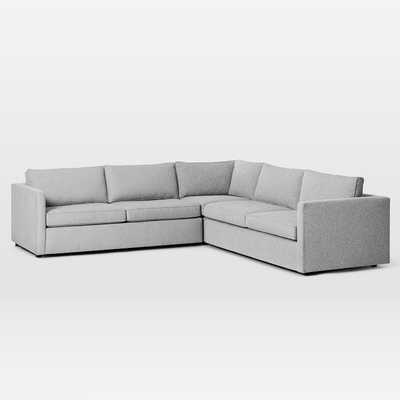 "Harris 3-Piece L-Shaped Sectional, 115"" Length, Harris 3-Piece L-Shaped Sectional - West Elm"