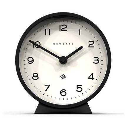 M Mantel Clock in Black design by Newgate - Burke Decor