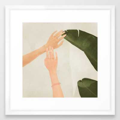 """Touch - 22"""" sq. - vector white - Society6"""