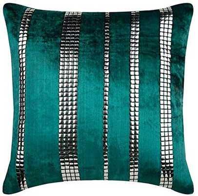 The HomeCentric Euro Pillow Sham, Luxury Green Euro Pillowcases - Amazon