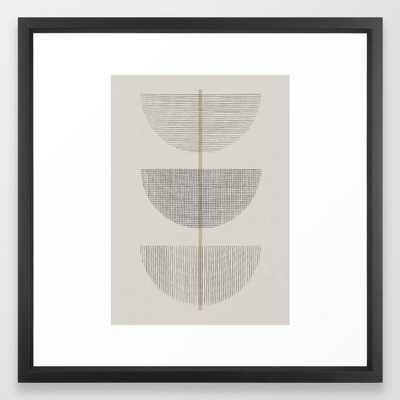 "Geometric Composition III Framed Art Print, Vector Black Frame, 22""x22"" - Society6"