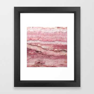 Mystic Stone Blush Framed Art Print - Society6