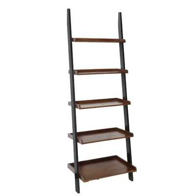 Gilliard Ladder Bookcase- Dark Walnut/Black - Wayfair