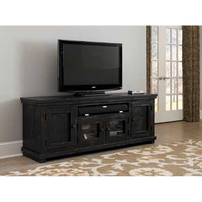 """Pineland TV Stand for TVs up to 78"""" - Distressed Black - Wayfair"""